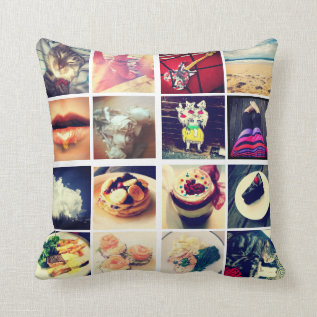 Create Your Own Instagram Throw Pillow at Zazzle