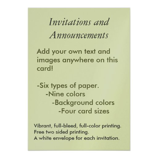 create your own invitation