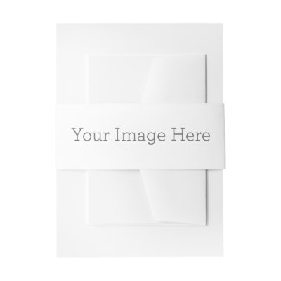 radiant bloom monogram invitation belly band zazzle com