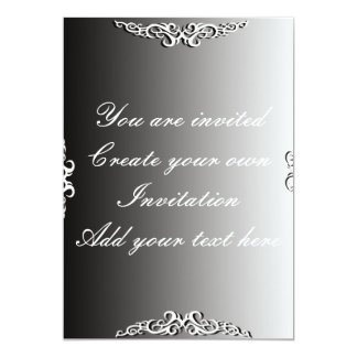 """Create your own Invitation for Everything 5"""" X 7"""" Invitation Card"""