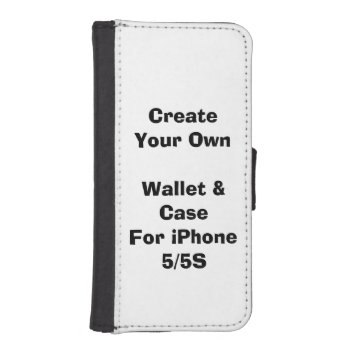 Create Your Own Iphone 5/5s Wallet Case by DigitalDreambuilder at Zazzle