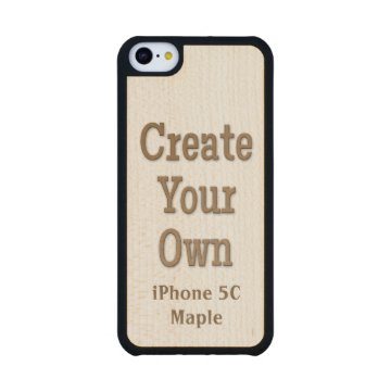 Create Your Own iPhone 5C Maple Wood Carved® Maple iPhone 5C Slim Case at Zazzle