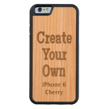 Create Your Own Iphone 6 Cherry Wood Carved Cherry Iphone 6 Bumper Case by DigitalDreambuilder at Zazzle