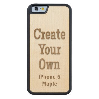 Create Your Own iPhone 6 case with a natural maple wood inlay