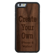 Create Your Own iPhone 6 Walnut Wood Carved® Walnut iPhone 6 Bumper at Zazzle