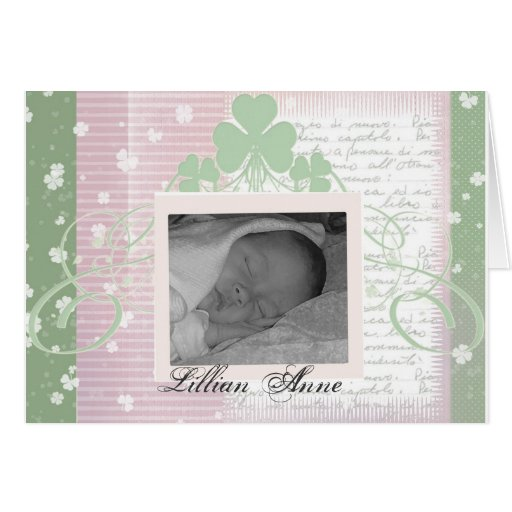 Create your own irish baby announcements greeting cards for Make your own singing christmas card