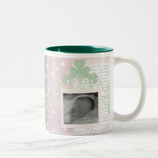 Create your own Irish Baby Announcements Two-Tone Coffee Mug