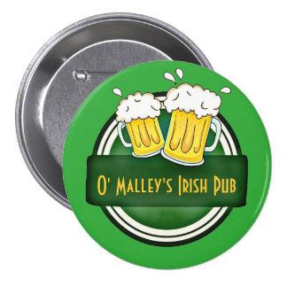 Create Your Own Irish Pub Logo Button