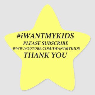 Create Your Own #iWANTMYKIDS Star Stickers