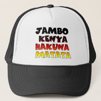 Create Your Own Jambo Kenya Hakuna Matata Trucker Hat