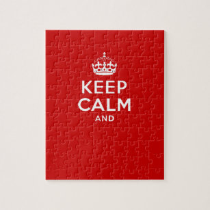 Keep Calm Crown Jigsaw Puzzles   Zazzle
