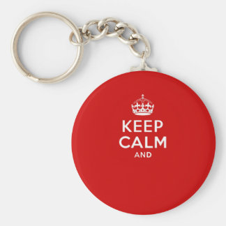 Create your own 'Keep Calm and carry on' crown red Keychains