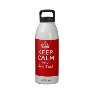 Create your own Keep Calm and carry on crown red Drinking Bottle