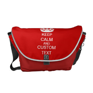 Create Your Own Keep Calm and Carry On Custom Messenger Bag