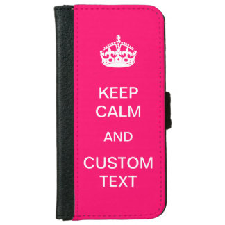 Create Your Own Keep Calm and Carry On Custom Wallet Phone Case For iPhone 6/6s