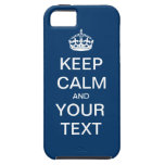 """Create Your Own:  """"Keep Calm and Carry On"""" iPhone SE/5/5s Case"""
