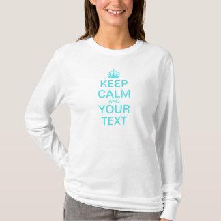 "Create Your Own ""Keep Calm & Carry On"" (aqua) T-Shirt"