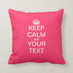 "Create Your Own ""KEEP CALM & CARRY ON""! Pillows"