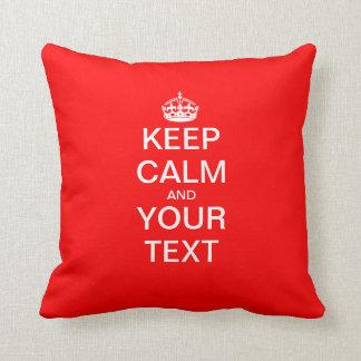 """Create Your Own """"KEEP CALM & CARRY ON""""! Throw Pillows"""