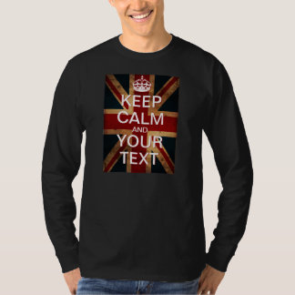 "Create Your Own ""Keep Calm & Carry On"" Union Jack! T-Shirt"