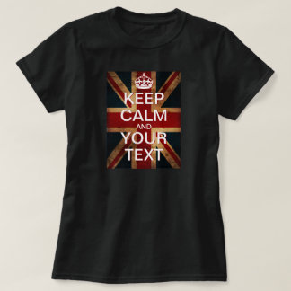 "Create Your Own ""Keep Calm & Carry On"" Union Jack! T Shirts"