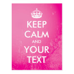 "Create your own ""Keep Calm"" (pink grunge) Postcard"