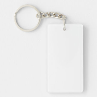 Create your own key-chain Single-Sided rectangular acrylic keychain