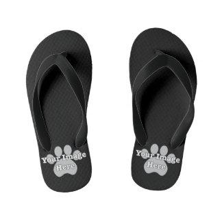Create Your Own Kids Dark Flip Flops