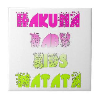 Create Your Own Kids Hakuna Matata Gifts Ceramic Tile