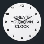 """Create Your Own Large Clock<br><div class=""""desc"""">&#169; 2012 Socialite Designs.  Use our clock template with numbers to create your own clock.  Add your own image,  photo or text and background color to create something uniquely yours. The numbers can be resized or deleted to suit your design.</div>"""