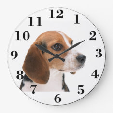 Create Your Own Large Round Clock at Zazzle