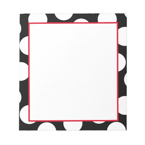Create Your Own Large White Polka Dot Pattern Notepad