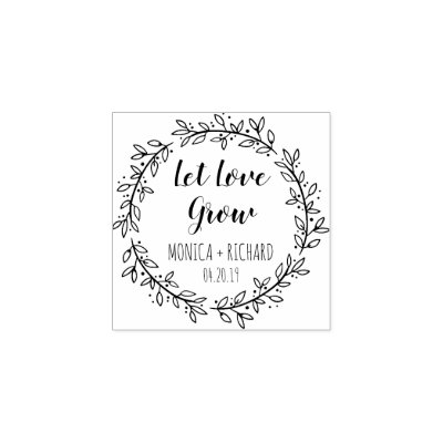 Let Love Grow Rubber Stamp