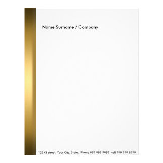 Create your own letter head Gold Letterhead