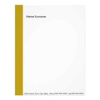 Create your own letter head letterhead template