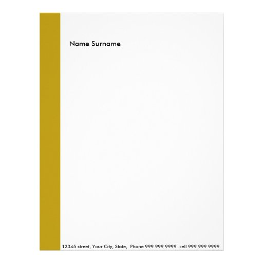 Create your own letter head letterhead template zazzle for Headshot border template