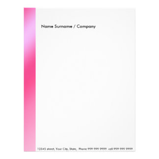 Create your own letter head Pink Letterhead