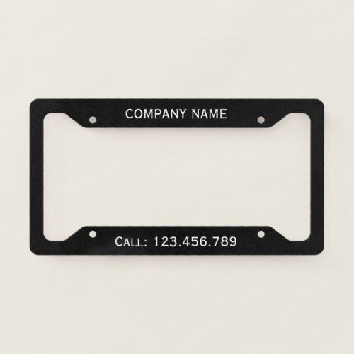 Create Your Own Licence Plate Frame