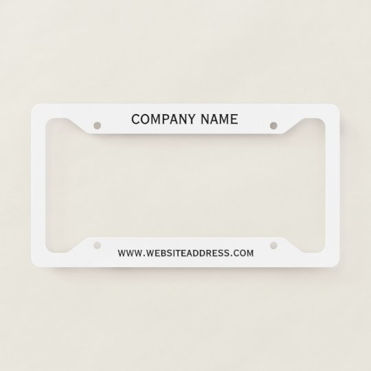 Create Your Own Licence Plate Frame Zazzlecom