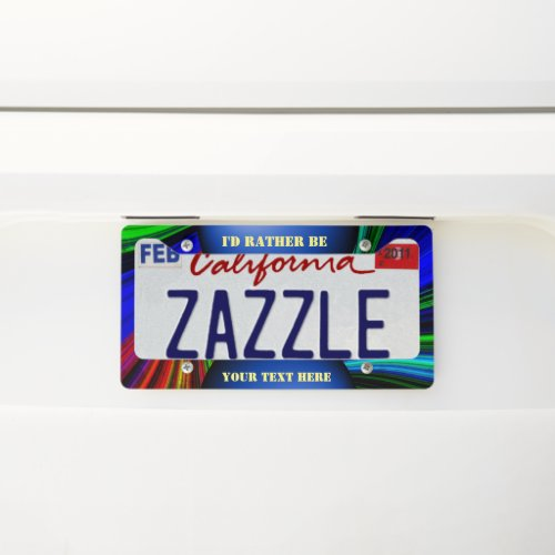 Create your own license plate frame