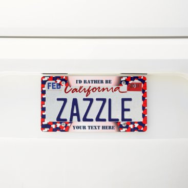 USA Themed Create your own license plate frame