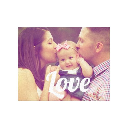 Create your own love family photo canvas print