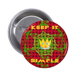 Create Your Own Lovely color Floral Keep it simple Pinback Button