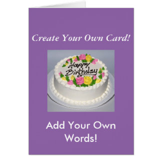 Create Your Own Lovely Purple Photo Card! Card