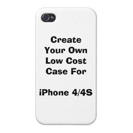 make your own iphone case create your own low cost iphone 4 4s zazzle 17799