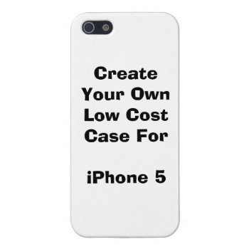 Create Your Own Low Cost Iphone 5/5s Case Savvy by DigitalDreambuilder at Zazzle