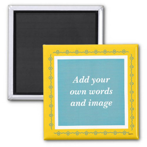 Create Your Own Magnet teal
