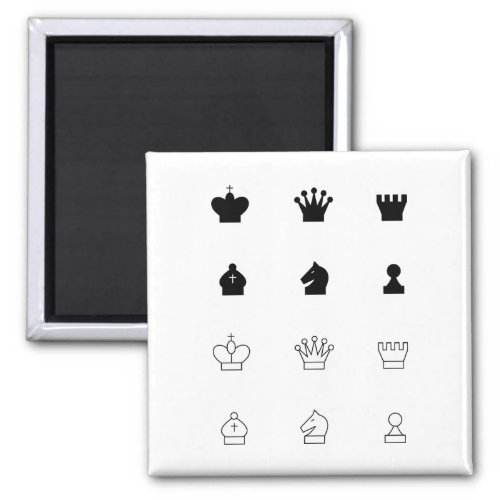 Create your own magnetic chess pieces with icon magnet