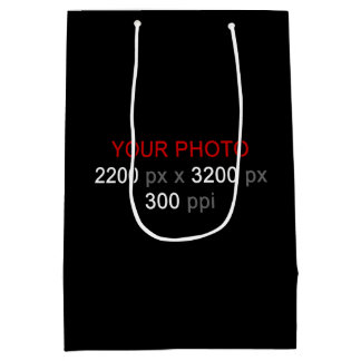 Create Your Own Medium Photo Gift Bag