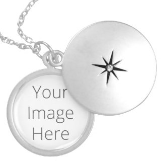 Create Your Own Medium Silver Plated Round Locket